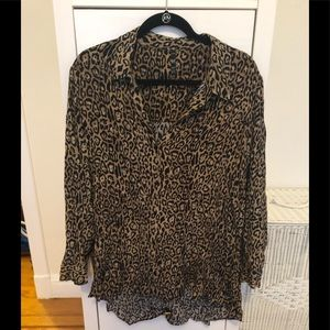 Zara Cheetah Blouse